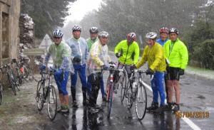 une sortie du cyclo club vias sous la neige